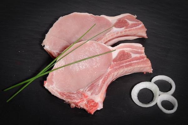 Côtes de porc au filet 2 x 200 gr