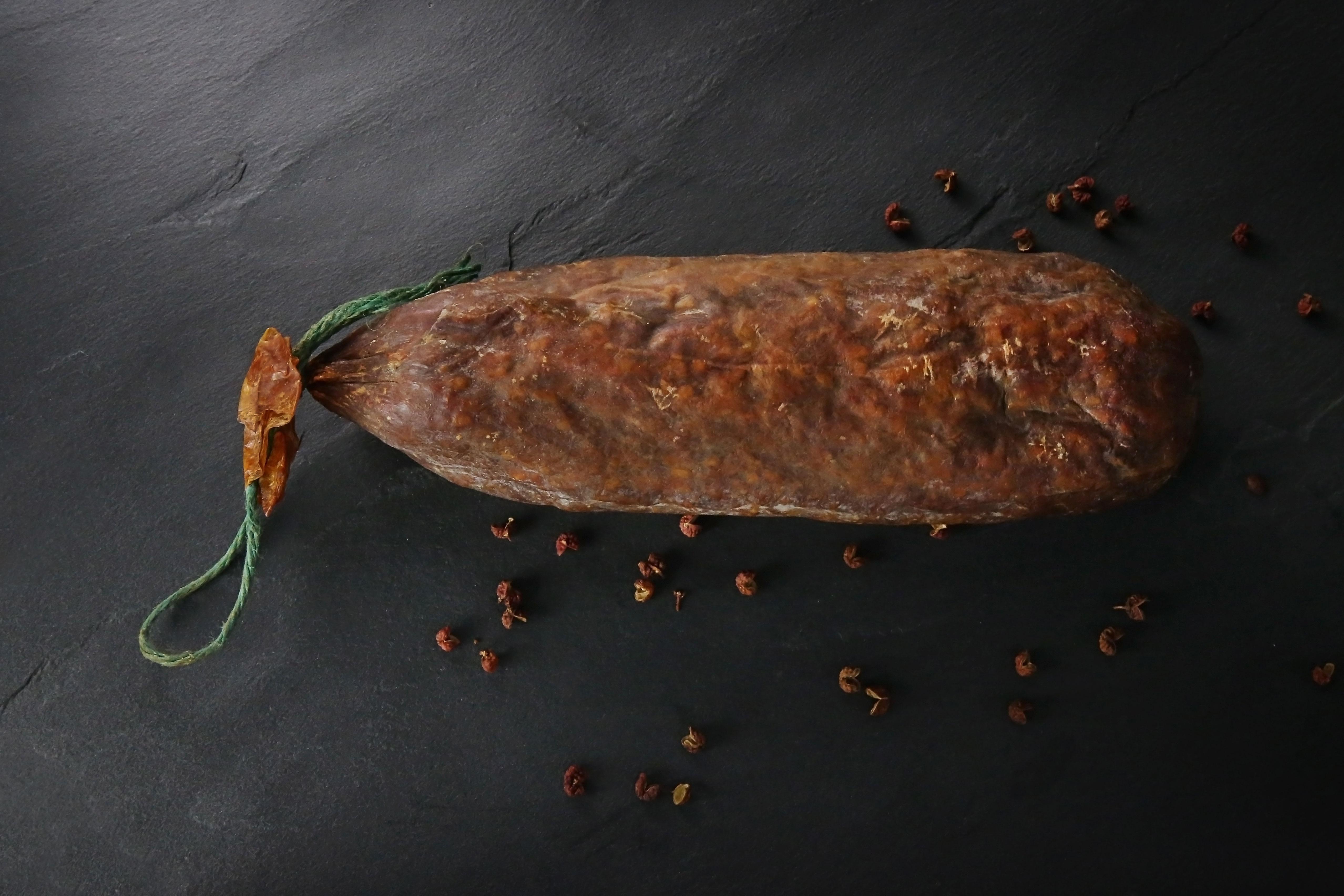 Saucisson pur boeuf aux noix 300 gr